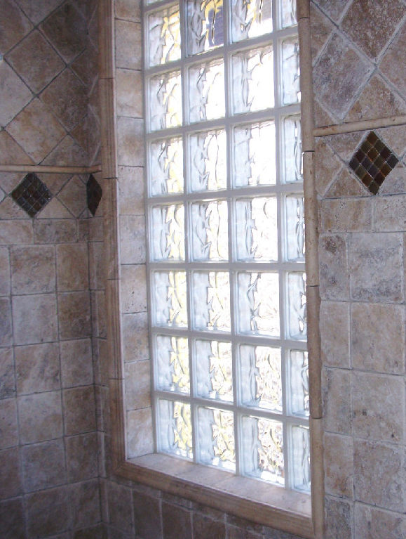 Island Wide Natural Stone & Tile Glass Block Two